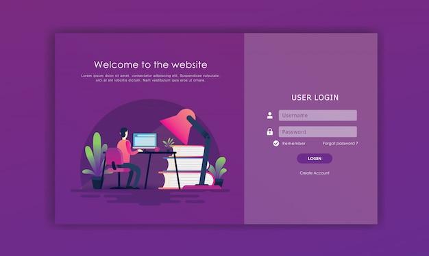 Iniciar sesión en el diseño de la página