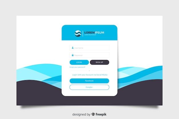 Inicie sesión en la página de destino con nombre de usuario y contraseña