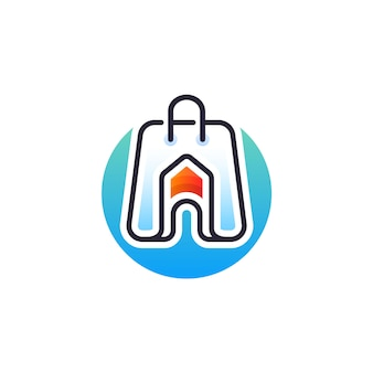 Inicio tienda logo design