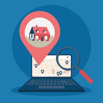 Inmobiliaria en laptop