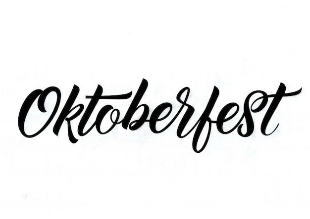 Inscripción caligráfica de octoberfest