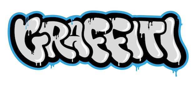 Inscripción decorativa en estilo graffiti vandalismo.