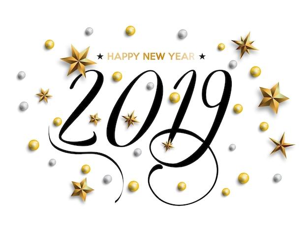 Inscripción feliz año nuevo 2019