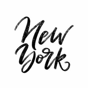 Inscripción manuscrita de vector de nueva york.