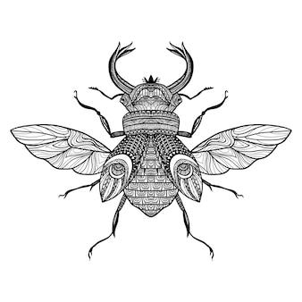 Insecto decorativo del bosquejo