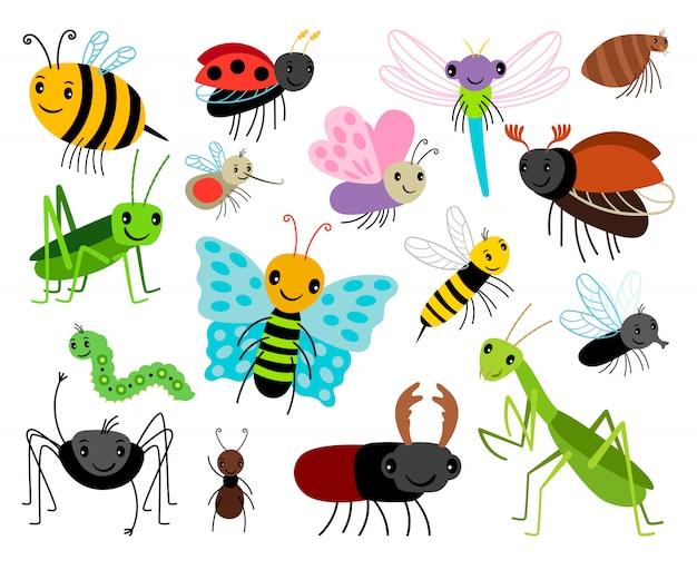 Insectos de dibujos animados