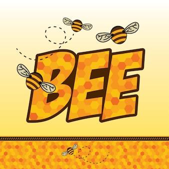 Insignia de abeja y etiqueta