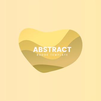Insignia abstracta de diseño en amarillo