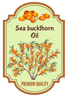 Insignia de aceite de espino amarillo