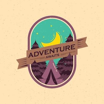 Insignia de aventura vintage