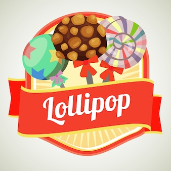 Insignia de bastón de caramelo lollipop