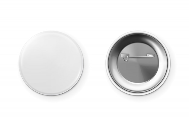 Insignia de botón en blanco.