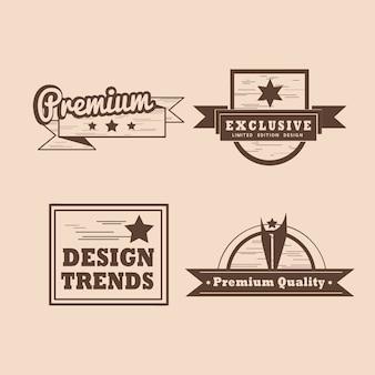 Insignia de calidad premium conjunto de vectores