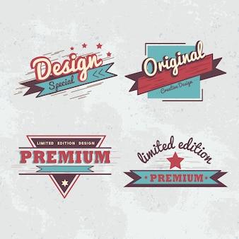 Insignia de calidad premium vector set