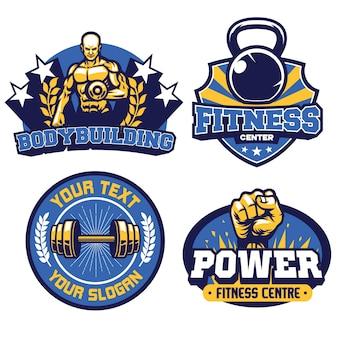 Insignia del centro de fitness y gimnasio