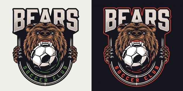 Insignia de club de fútbol colorido vintage