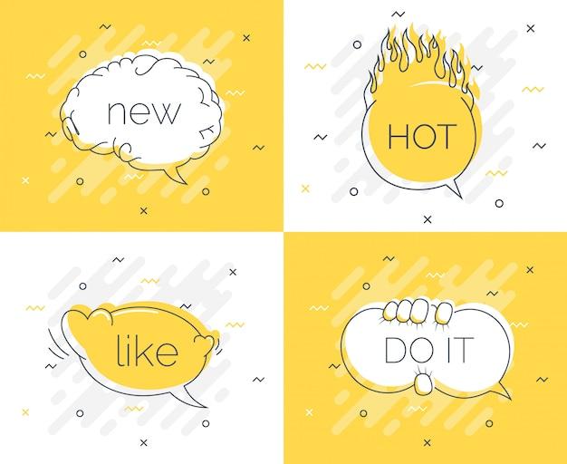Insignia de consejos rápidos con burbujas de discurso