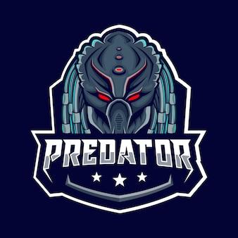 Insignia depredador azul