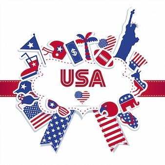 Insignia del día de independencia americana