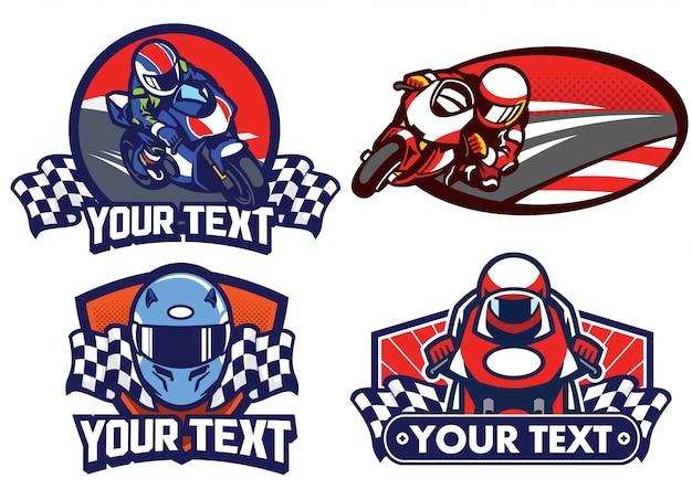 Insignia de diseño de carrera de motos