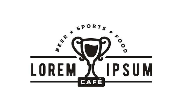 Insignia del diseño del logo de sport bar