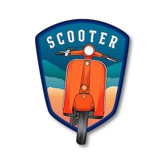 Insignia del emblema de verano scooter