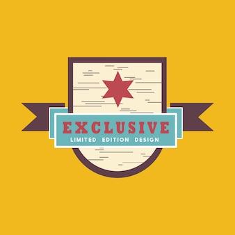 Insignia exclusiva edición limitada vector
