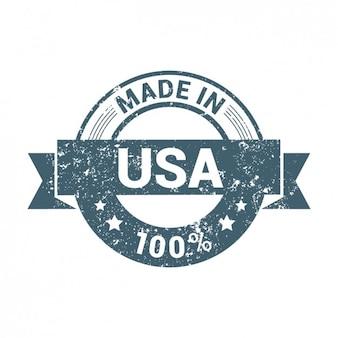 Insignia de fabricado en américa desgastada