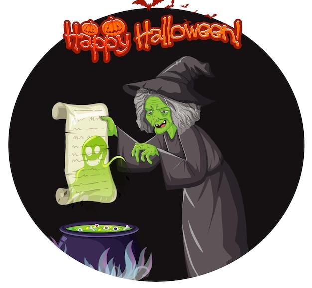 Insignia de feliz halloween con dos payasos espeluznantes