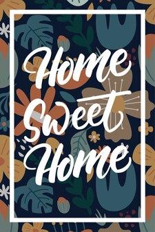 Insignia floral dulce hogar dulce