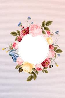 Insignia floral enmarcada