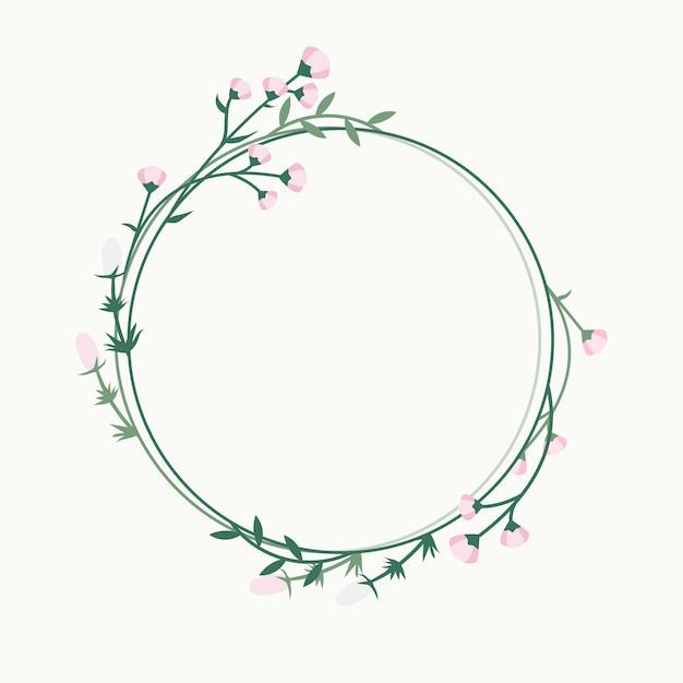 Insignia floral del marco