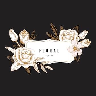 Insignia floral romantica