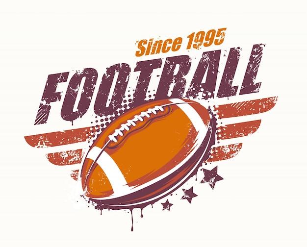 Insignia de fútbol americano vintage