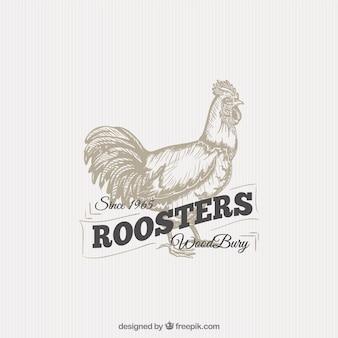Insignia de gallo ilustrado