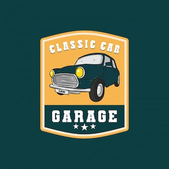 Insignia de garaje de coche clásico logo