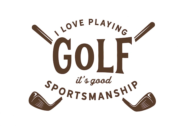 Insignia de golf