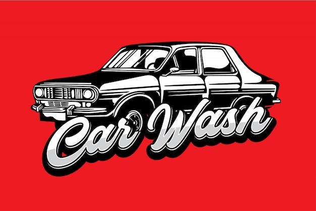 Insignia de lavado de autos