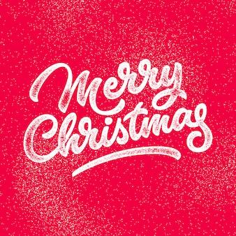 Insignia de letras de feliz navidad
