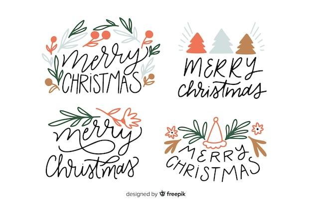 Insignia de letras de navidad collecion