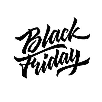 Insignia de letras de venta de viernes negro
