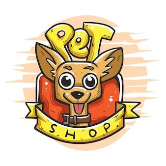 Insignia del logo de la tienda de mascotas