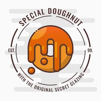 Insignia del logotipo de donut