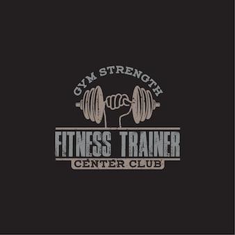 Insignia de logotipo de fitness y gimnasio