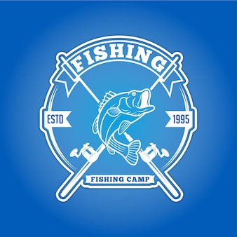 Insignia de logotipo de pesca