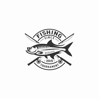 Insignia del logotipo del torneo de pesca