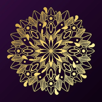 Insignia de oro del mandala
