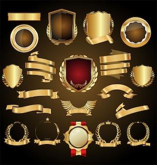Insignia de oro retro
