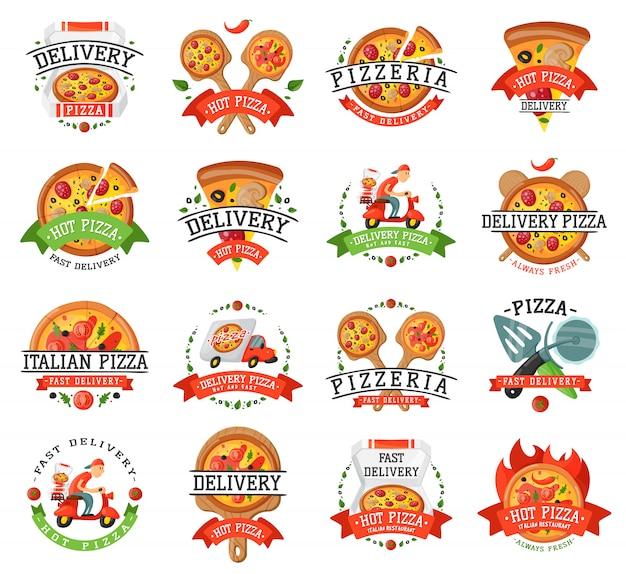 Insignia de pizza a domicilio