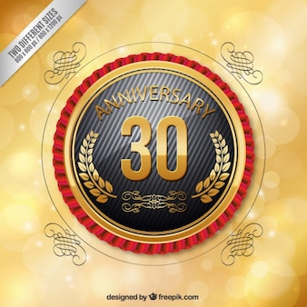 Insignia redonda de trigésimo aniversario